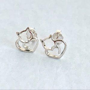 🆕Cat Earrings Sterling Silver